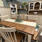 Amish-built dinner table