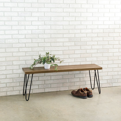 """Bench with 16"""" hairpin legs"""