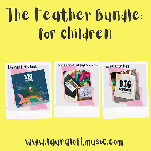 The Feather Bundle: book, flash cards & mindful colouring