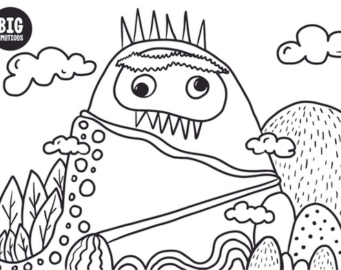 mountain big emotions mindful colouring
