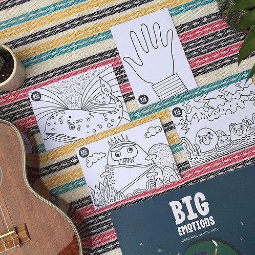 Big Emotions: Mindful Colouring Postcards