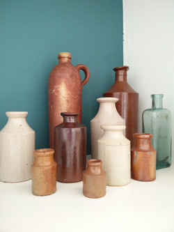 Vintage bottles - Dining Room