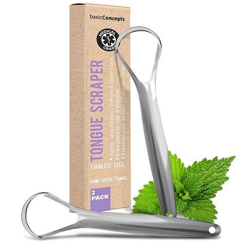 Tongue Scraper (2 Pack), Reduce Bad Breath