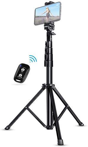 "Selfie Stick Tripod, UBeesize 51"" Extendable Tripod Stand with Bluetooth Remote"