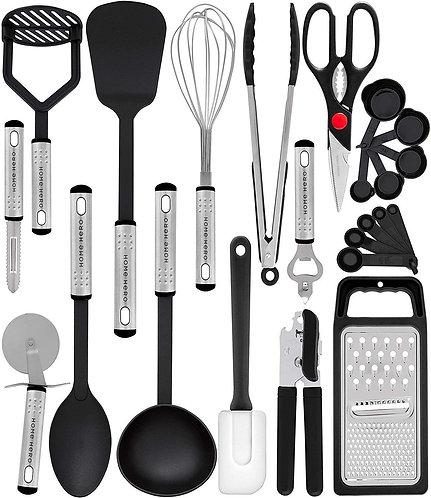 Home Hero Kitchen Utensil Set-23 Nylon Cooking Utensils-Kitchen Utensils