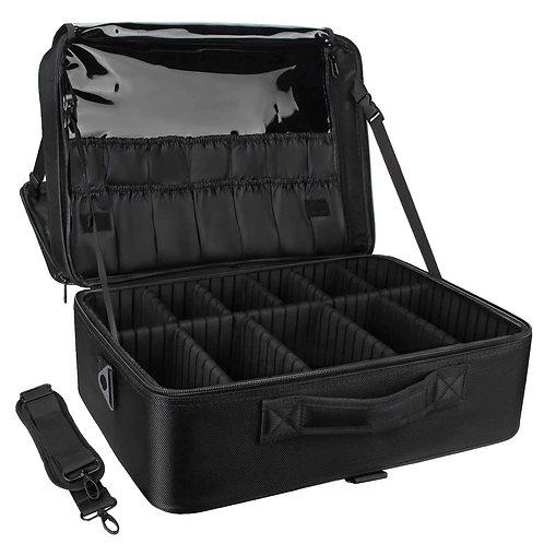 Relavel Extra Large Makeup Case - Bag Portable Nail Organizer