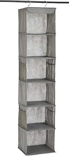 Basics 6-Tier Hanging Closet Shelf Organizer With Pockets