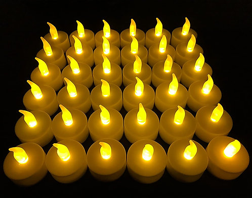 Flameless LED Tea Light Candles, 36 PK Vivii Battery-Powered Unscented LED