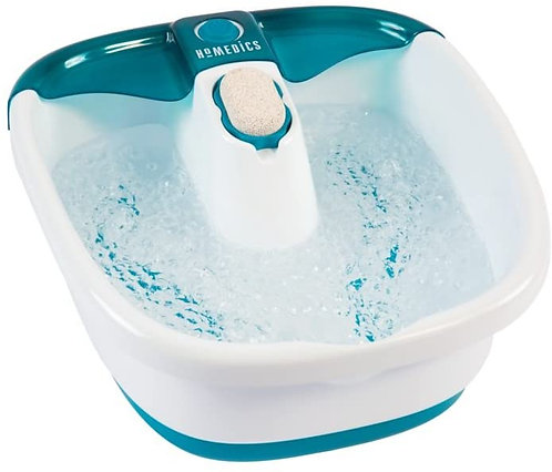 HoMedics Bubble Mate Foot SpaToe-Touch Control, Removable Pumice Stone