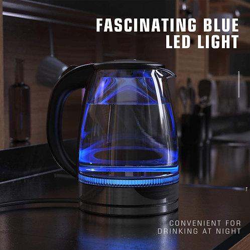 HadinEEon Electric Kettle 1.7L Glass Electric Tea Kettle (BPA Free)