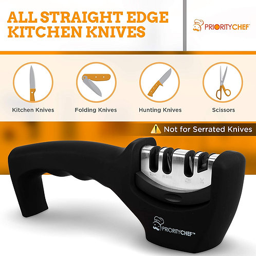 PriorityChef Kitchen Knife Sharpener - 4 Stage Knife Sharpening