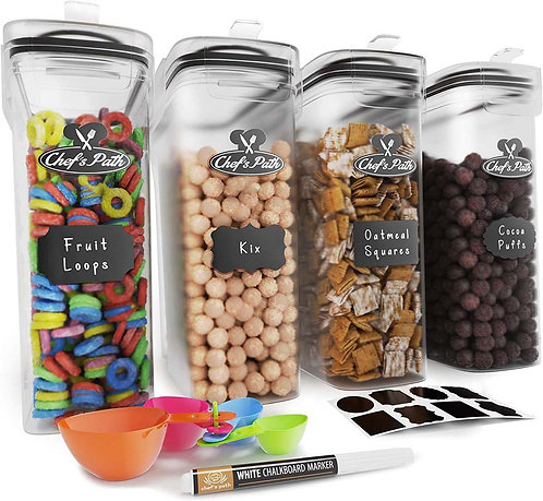 Premium Cereal Container Set - Airtight Food Storage Containers