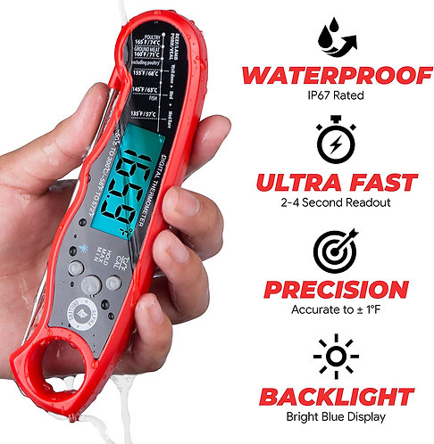 Alpha Grillers Instant Read Meat Thermometer for Grill and Cooking.