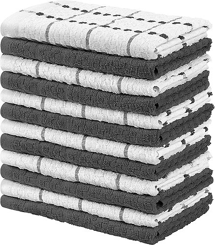 Utopia Towels Kitchen Towels,100% Ring Spun Cotton Super Soft and Absorbent Grey