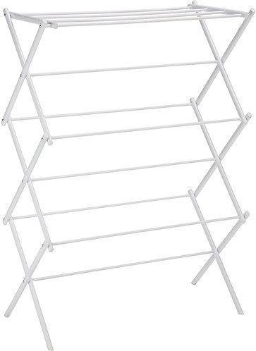 Basics Foldable Clothes Drying Laundry Rack - White