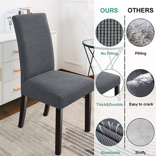 Chair Covers for Dining Room,Kitchen(Set of 4, Gray)