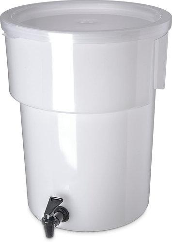 Carlisle 221002 Polyethylene Round Beverage Dispenser, 5 gal.
