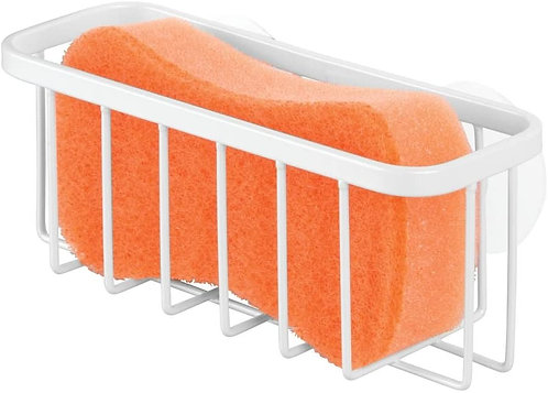iDesign Gia Sink Suction Holder for Sponges, Scrubbers, Soap in Kitchen