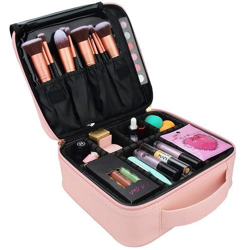 Relavel Travel Makeup Train Case Makeup Cosmetic Case Organizer