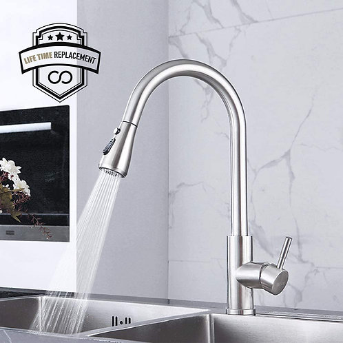 Kitchen Faucet with Pull Down Sprayer Brushed Nickel, High Arc Single Handle...