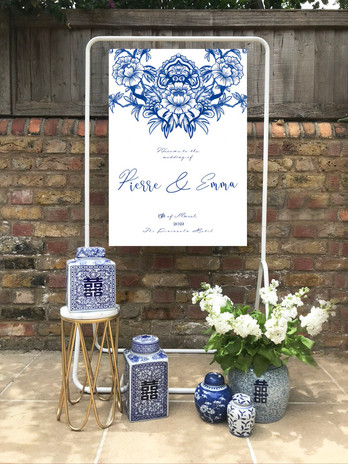 chinoiserie blue welcome sign.jpg