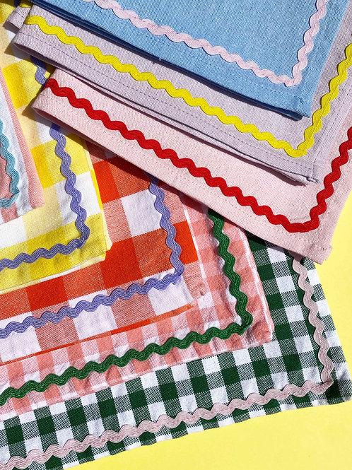 Bespoke ric-rac napkins set of 2