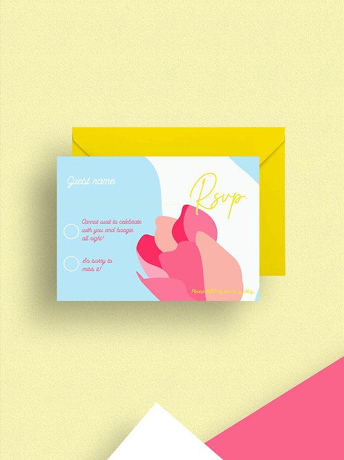 Bonbon rsvp card