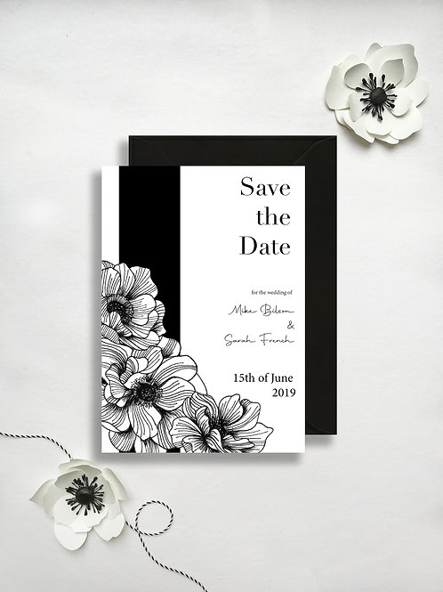 Anemone Save the Date