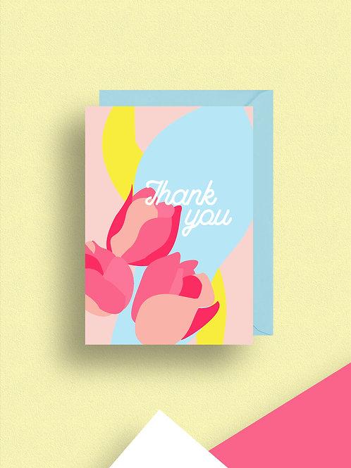 Bonbon Thank you card