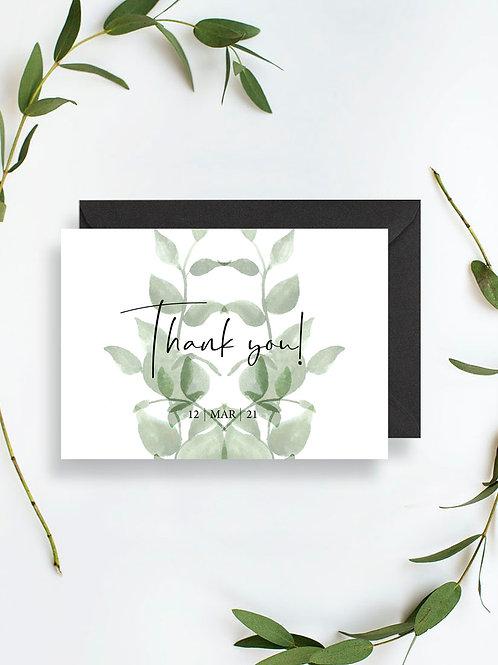 Vert Thank you card