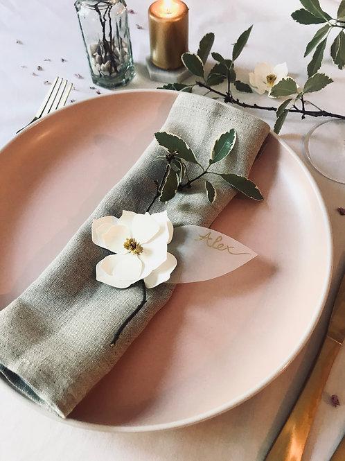 Handmade paper magnolia