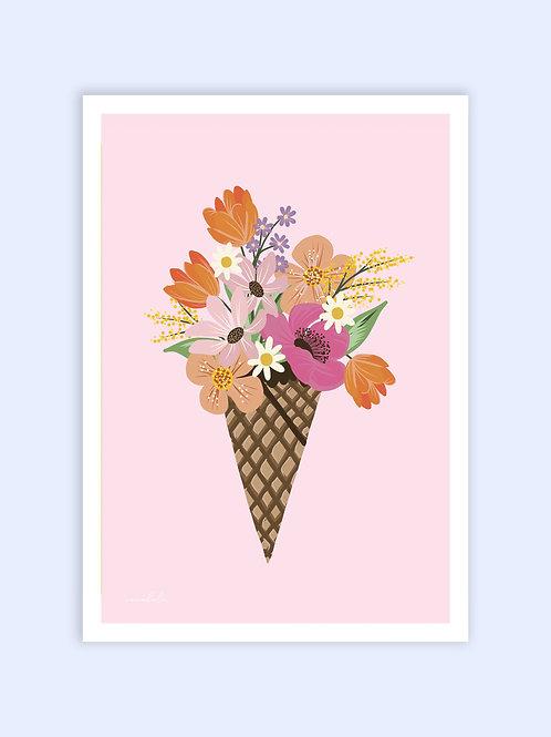 Floral Gelato print