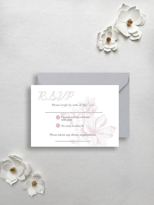 Modern Magnolia rsvp card