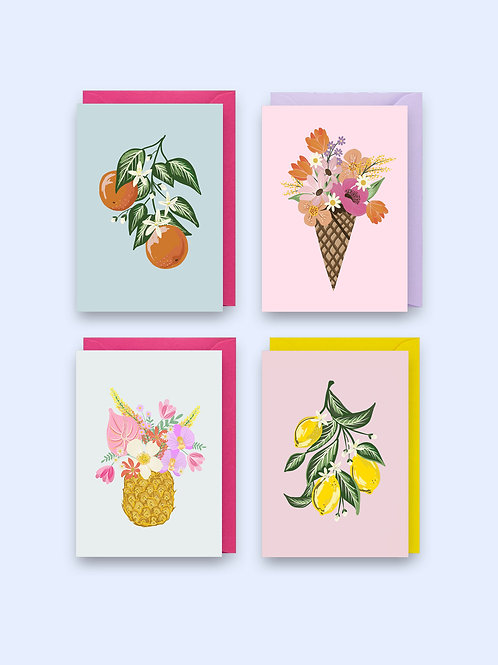 Tutti Frutti set of 4