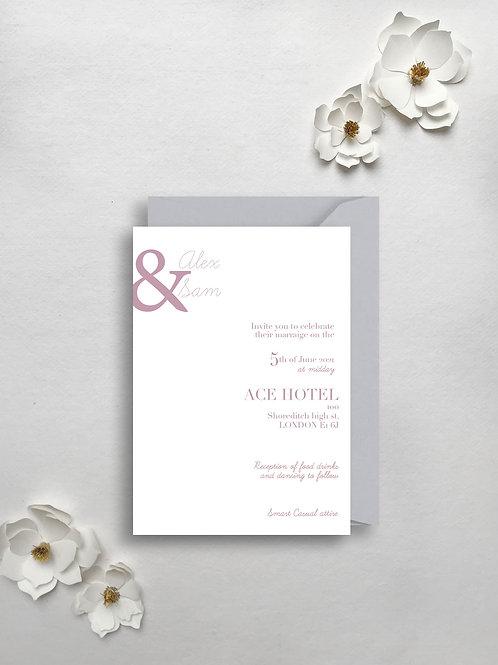 Modern Magnolia invite