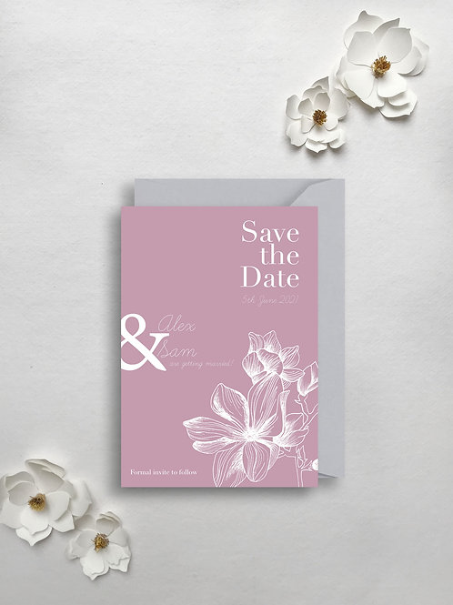 Modern Magnolia Save the Date