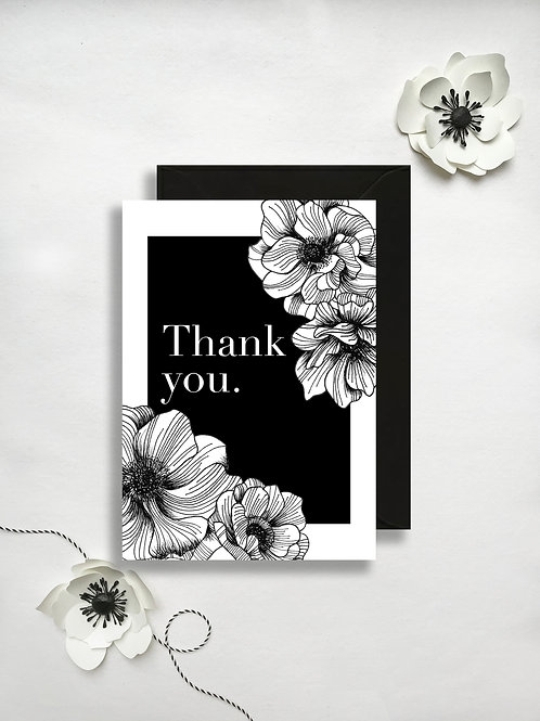 Anemone Thank you card