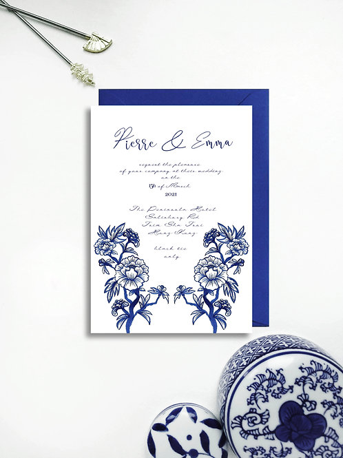 Chinoiserie Blue invite