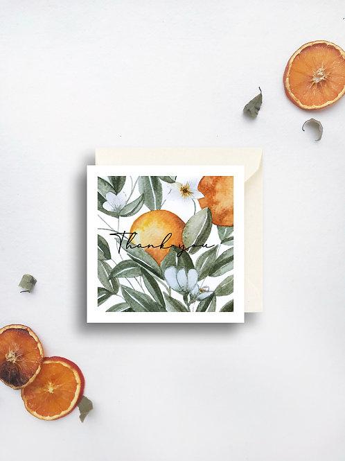 Valencian Orange Thank you card