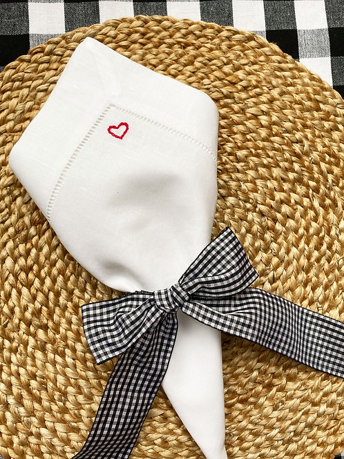 Lovers embroidered napkin set of 2