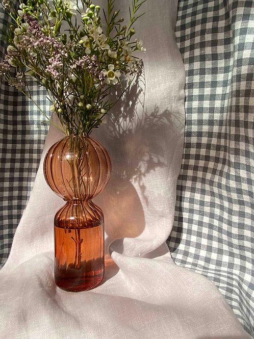 Burnt amber globe vase