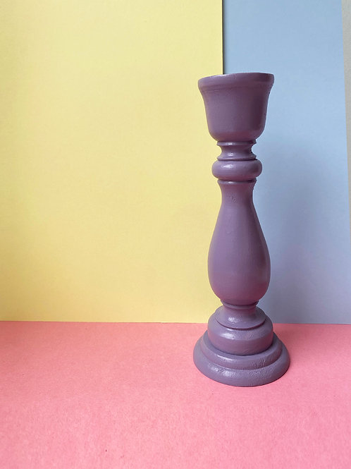 Tall lilac candle stick
