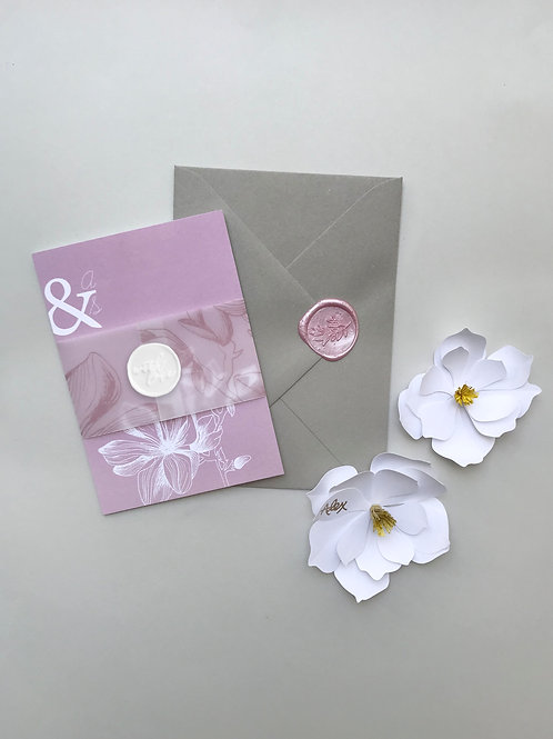 Modern Magnolia wax seal and belly band