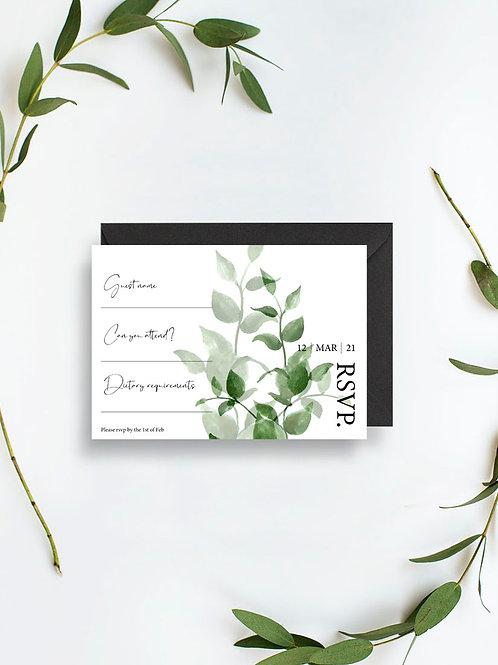 Vert rsvp card