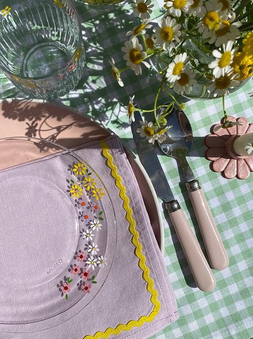 Wild flower dessert plates set of 2