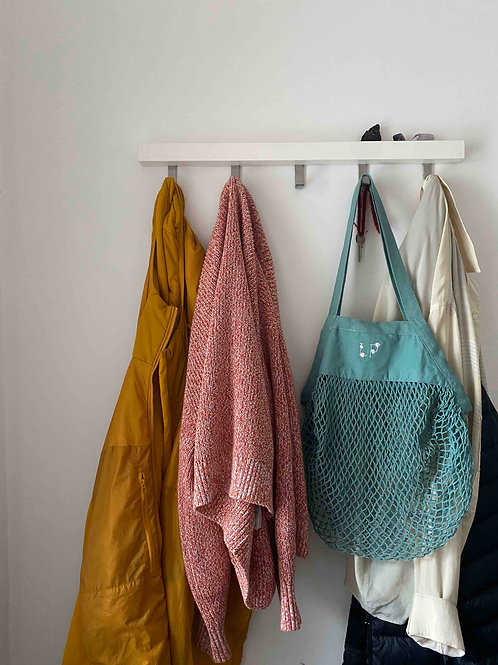 Personalised organic cotton mesh tote