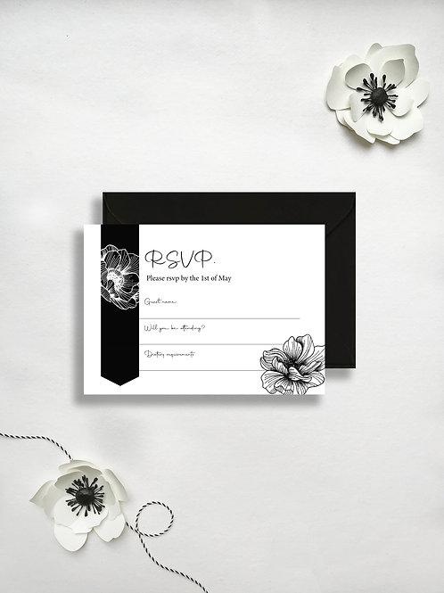 Anemone rsvp card