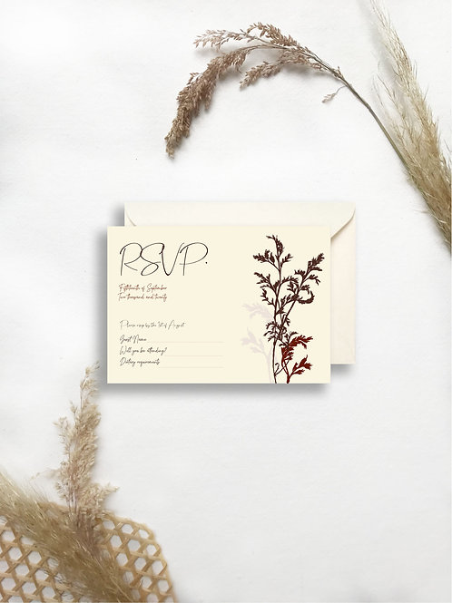 Day Dream rsvp card