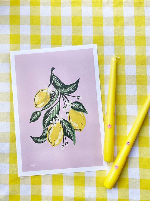Limoncello print & candle gift set