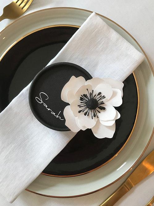 Anemone handmade paper flower and box